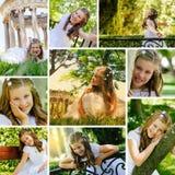 Mädchen an ihrem ersten Kommunion-Tag Stockbilder