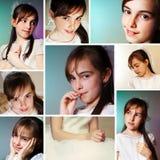 Mädchen an ihrem ersten Kommunion-Tag Stockfotos