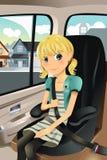 Mädchen im Autositz Lizenzfreies Stockfoto