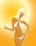 Mädchen im Bikini Stockbilder
