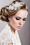 Mädchen im Bild der Braut Stockfotografie