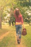 Mädchen im Bild eines Cowboys Lizenzfreie Stockfotos