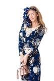 Mädchen im blauen Kleid Lizenzfreie Stockbilder