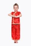 Mädchen im Chinesekleid lizenzfreies stockbild