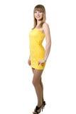 Mädchen im gelben Kleid Lizenzfreies Stockfoto