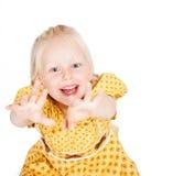 Mädchen im gelben Kleid Stockbilder