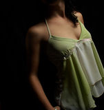 Mädchen im Grün Lizenzfreies Stockfoto