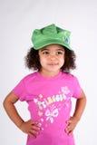 Mädchen im grünen Hut Lizenzfreie Stockfotos