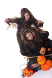 Mädchen im Halloween-Kostüm Stockbilder