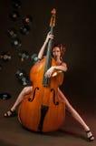 Mädchen im Jazz stockbilder
