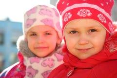 Mädchen im Kindergarten lizenzfreie stockfotos