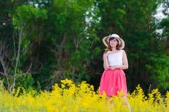 Mädchen im Kleid Stockfoto