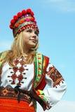 Mädchen im nationalen Kostüm Lizenzfreies Stockbild