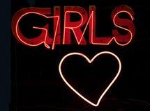 Mädchen im Neon Stockfotografie