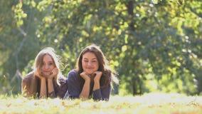 Mädchen im Park stock video
