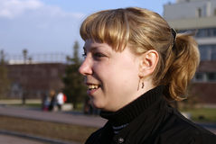 Mädchen im Profil Stockfotografie