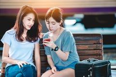 Mädchen im Reisemoment Lizenzfreie Stockfotografie