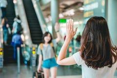 Mädchen im Reisemoment Lizenzfreies Stockbild