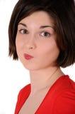 Mädchen im Rot Lizenzfreie Stockfotos