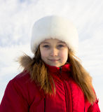 Mädchen im Rot Lizenzfreie Stockbilder