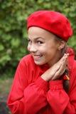 Mädchen im Rot lizenzfreie stockfotografie