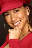 Mädchen im roten Hut Lizenzfreies Stockfoto