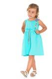 Mädchen im schönen Kleid stockfotografie