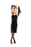 Mädchen im schwarzen Kleid Stockfotos
