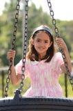 Mädchen im Spielplatz Stockfotografie