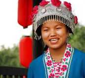Mädchen im traditionellen Kostüm, Süd-China Lizenzfreie Stockfotos