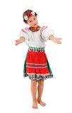 Mädchen im ukrainischen nationalen Kostüm Lizenzfreies Stockbild