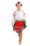 Mädchen im ukrainischen nationalen Kostüm Stockbild