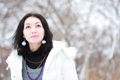 Mädchen im Winter Stockfotos