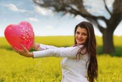 Mädchen inlove Lizenzfreie Stockfotos
