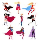 Mädchen ist Superhelden vektor abbildung
