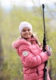 Mädchen-Jäger Stockfotos