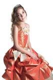 Mädchen kleidete wie eine Prinzessin an Lizenzfreie Stockfotos