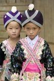 Mädchen Laos-Hmong lizenzfreies stockfoto