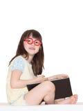 Mädchen las Buch Lizenzfreie Stockbilder