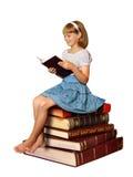 Mädchen Lesebuch stockfoto
