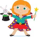 Mädchen-Magier lizenzfreie abbildung