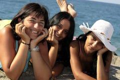 Mädchen in Meer Stockfoto