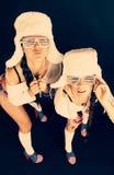 Mädchen mit Akkordeon Stockfotografie