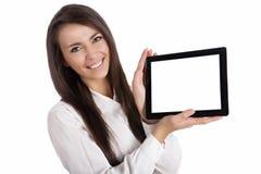 Mädchen mit Auflage Lizenzfreie Stockfotografie