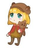Mädchen mit Bären Lizenzfreie Stockbilder