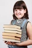 Mädchen mit Büchern Stockfotos