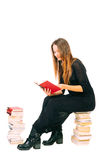 Mädchen mit Büchern Lizenzfreies Stockfoto