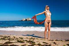 Mädchen mit Badeanzug Stockbild