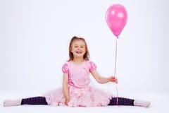 Mädchen mit Ballon stockfotos