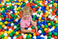 Mädchen mit Ballon Stockfoto